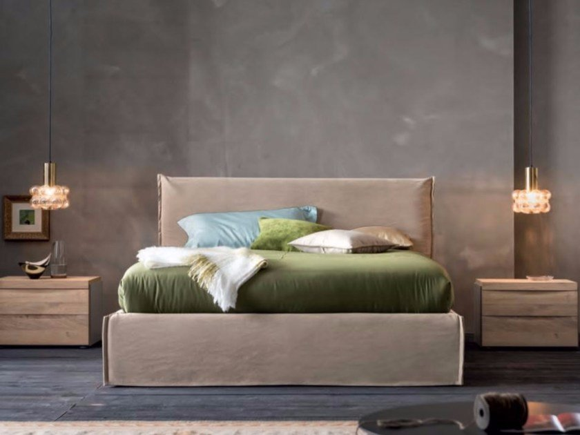 Upholstered fabric double bed EVERY | Double bed by Dall'Agnese