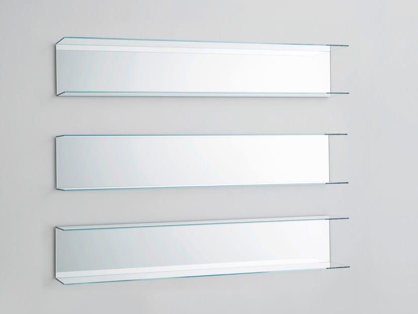 Crystal wall shelf EVERYWHERE by Glas Italia