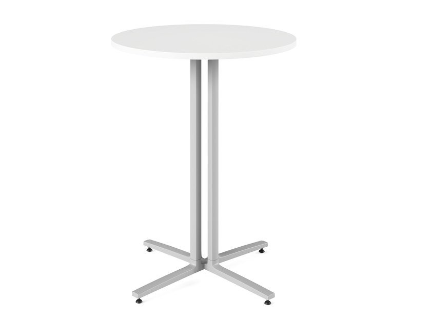 Round high table with 4-star base EVERYWHERE | High table by Herman Miller
