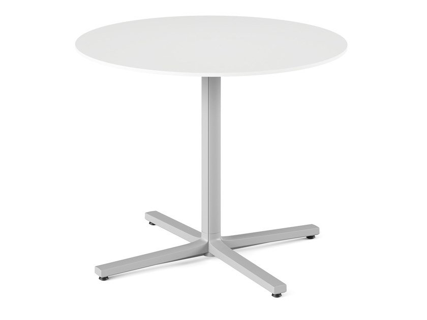Round table with 4-star base EVERYWHERE   Table with 4-star base by Herman Miller