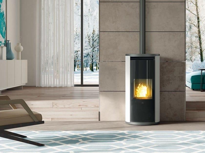 Pellet steel stove EVIA by EDILKAMIN