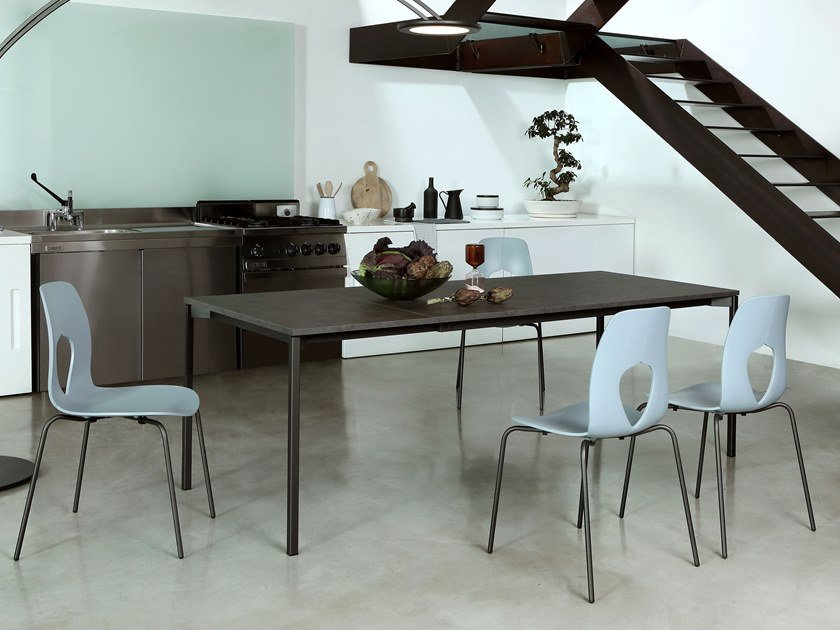 Extending rectangular table EVO by Tonin Casa
