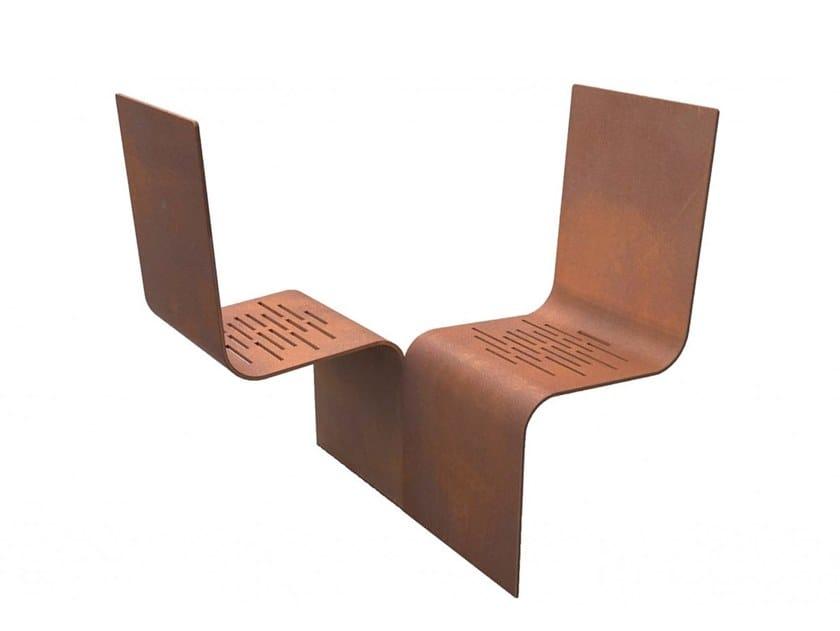 Seduta da esterni in metallo EVOL by Euroform W