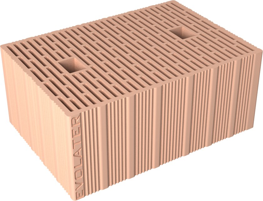Loadbearing clay block EVOLATER NZEB BP 45 ZS by Fornaci DCB