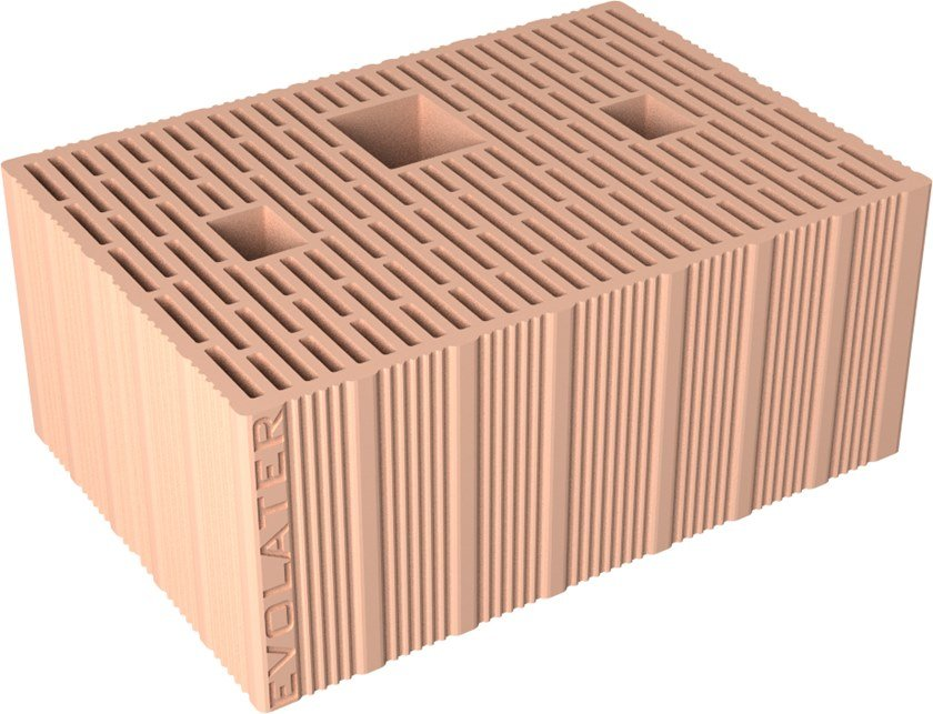 Loadbearing clay block BLOCCO EVOLATER NZEB 45CM MuraturaArmata by Fornaci DCB