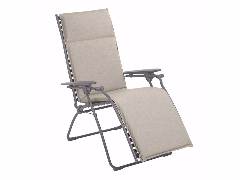 Beau Recliner Deck Chair With Armrests EVOLUTION By Lafuma Mobilier