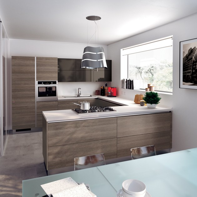 Fitted Kitchen EVOLUTION Scavolini Basic Collection By