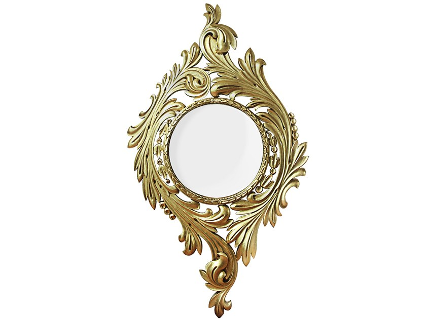 Wall-mounted framed mirror EVORA by Malabar