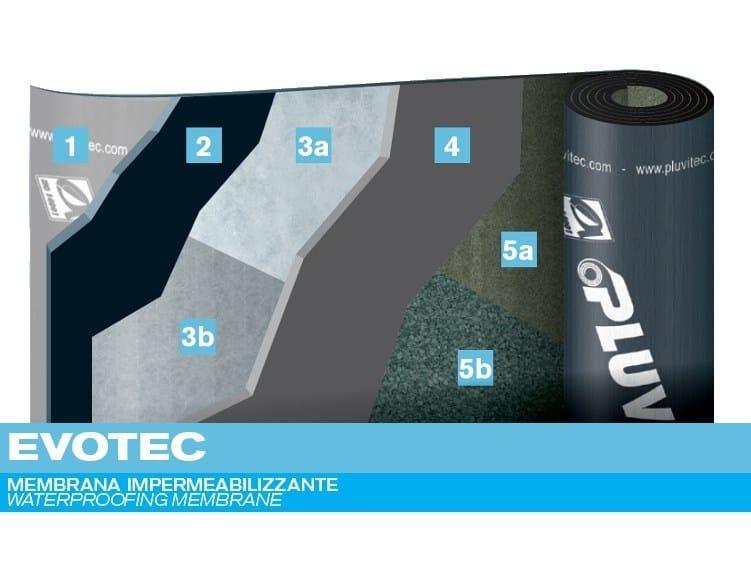 Prefabricated bituminous membrane EVOTEC by PLUVITEC
