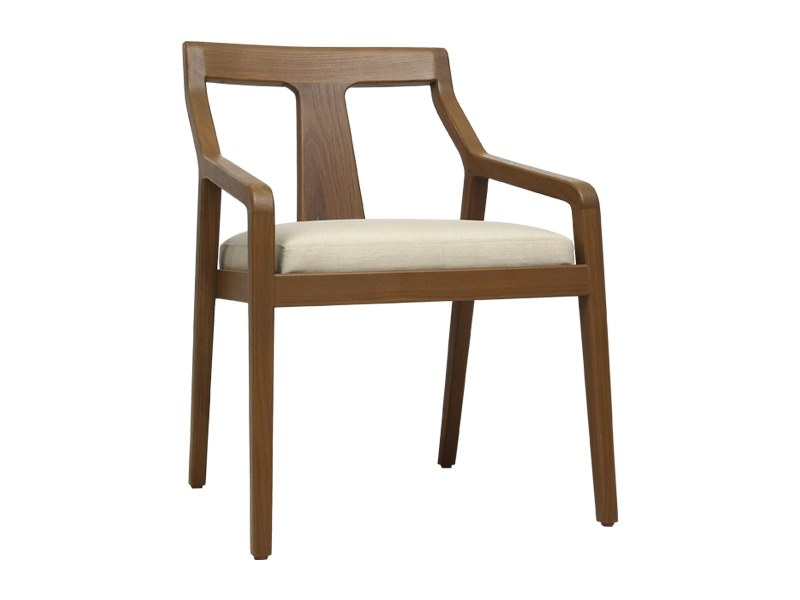 Solid wood chair with armrests EVY | Chair with armrests by WARISAN