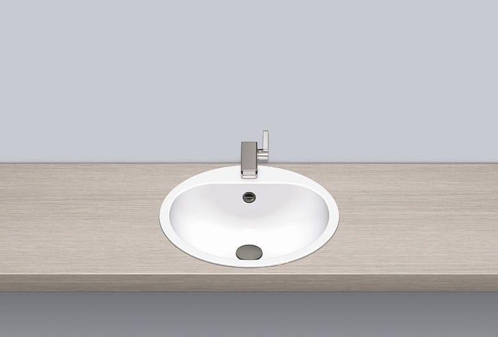 Built-in basin from glazed steel EW 3.2 by Alape