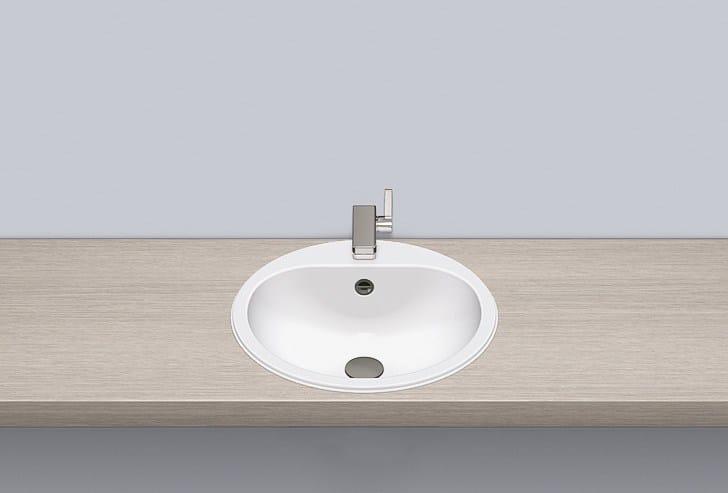 Built-in basin from glazed steel EW 3 by Alape