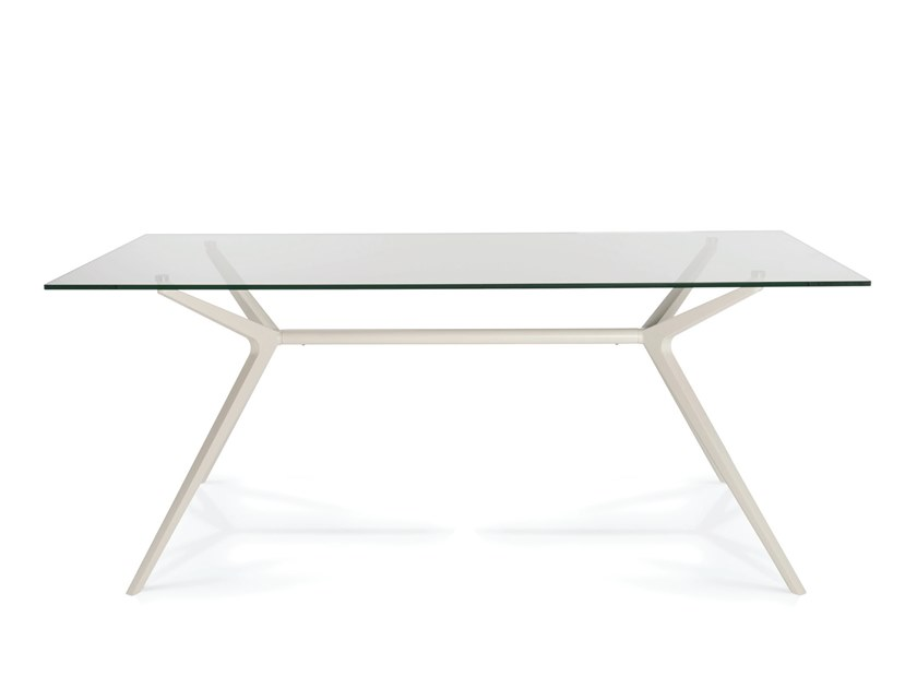 Contemporary style rectangular aluminium table EX by Casprini