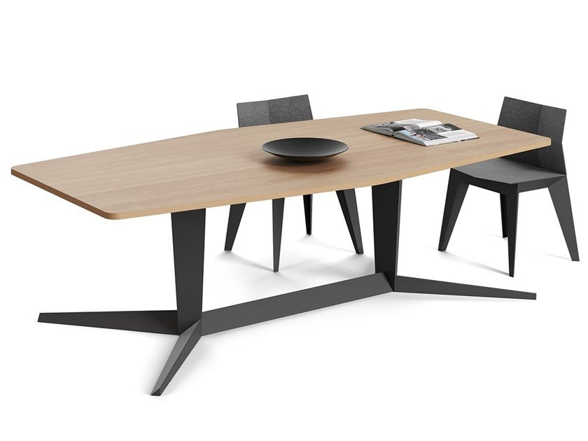 Rectangular steel and wood table EX | Table by ODESD2