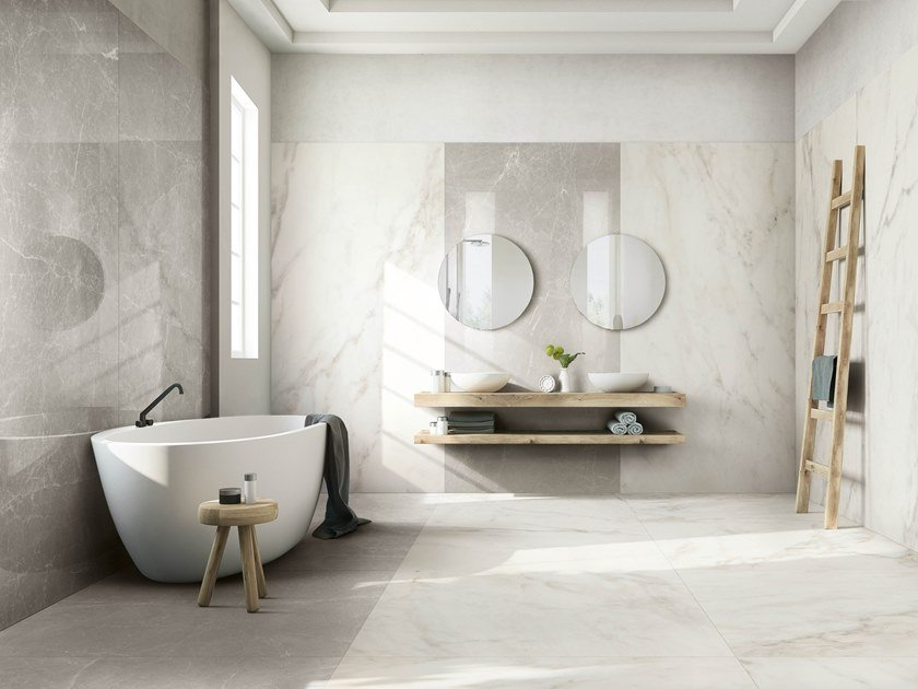 Porcelain stoneware wall/floor tiles with marble effect EXALT OF CERIM by CERIM