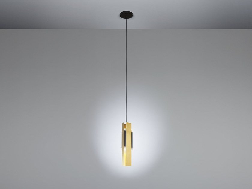 LED Satin brass pendant lamp EXCALIBUR   Pendant lamp by Tooy