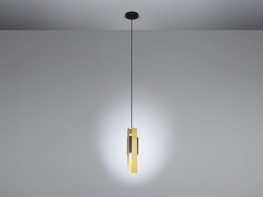 Lampada a sospensione a LED in ottone satinato EXCALIBUR | Lampada a sospensione by Tooy