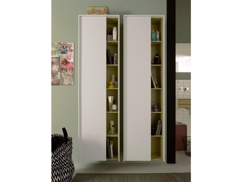 Suspended bathroom cabinet with doors EXCELSIOR by Capo d'Opera