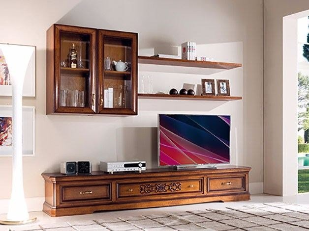 Wall-mounted TV wall system EXCLUSIVE | TV wall system by Arvestyle
