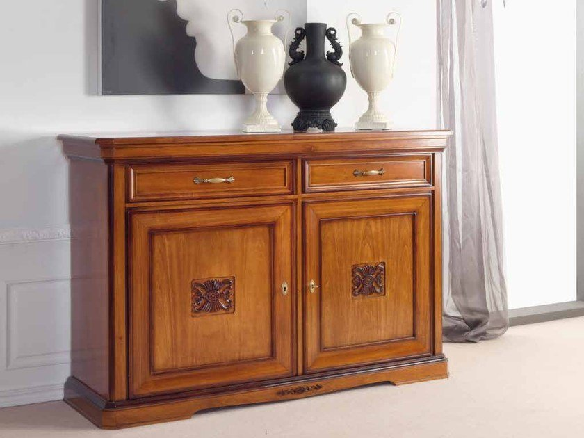 Solid wood sideboard with doors with drawers EXCLUSIVE | Solid wood sideboard by Arvestyle