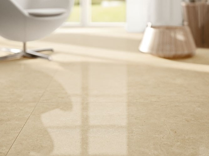 Laminated stoneware wall/floor tiles with marble effect EXEDRA - MARFIL by COTTO D'ESTE