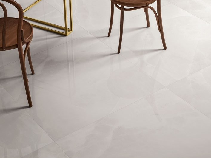 Laminated stoneware wall/floor tiles with marble effect EXEDRA - ONYX PERLE by COTTO D'ESTE