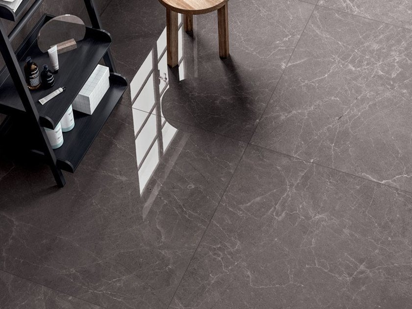 Laminated stoneware wall/floor tiles with marble effect EXEDRA - RAIN GREY by COTTO D'ESTE