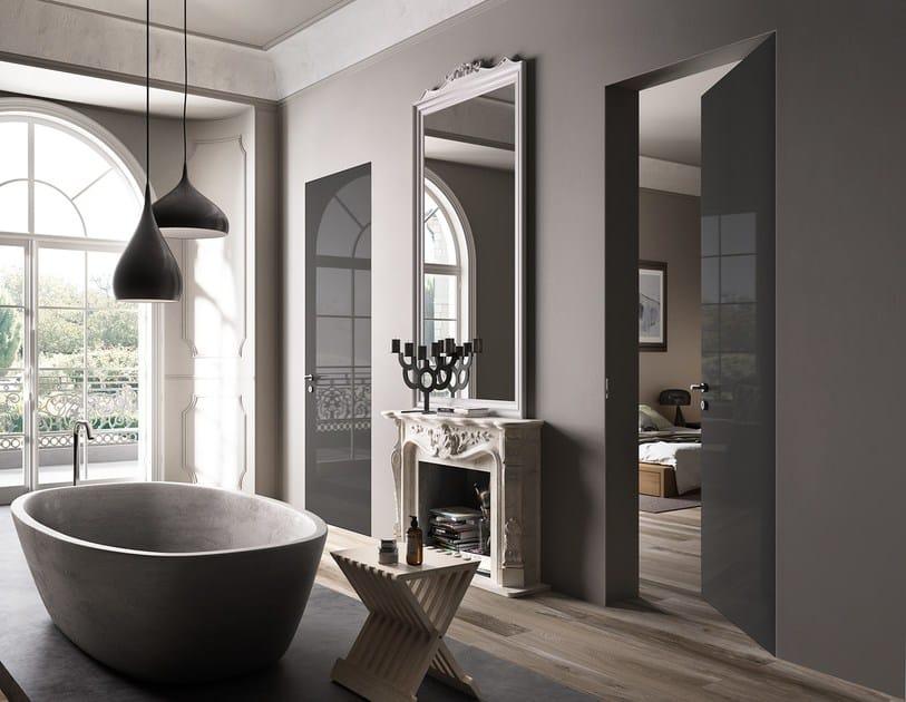 Hinged flush-fitting door EXIT ZERO by FERREROLEGNO