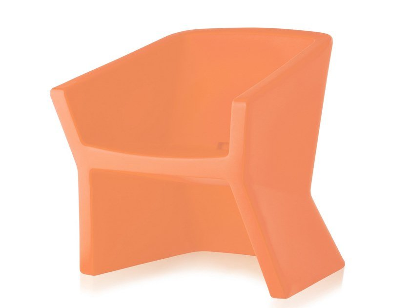 SLIDE fauteuil EXOFA (Noir - Polyéthylène)