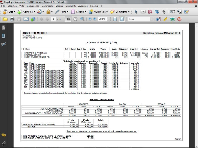 EXPERT IMU & TASI Calcolo del saldo per il 2016