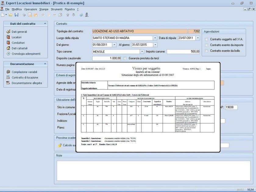 EXPERT LOCAZIONI IMMOBILIARI Importazione dati da visura in formato PDF