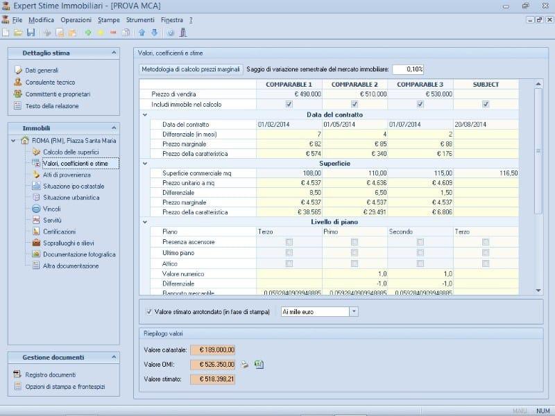 EXPERT STIME & ESECUZIONI IMMOBILIARI Stima con il metodo MCA (Market Comparison Approach)