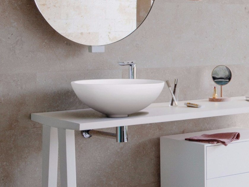 Countertop round Corian® washbasin EXPO | Countertop washbasin by Graff Europe West