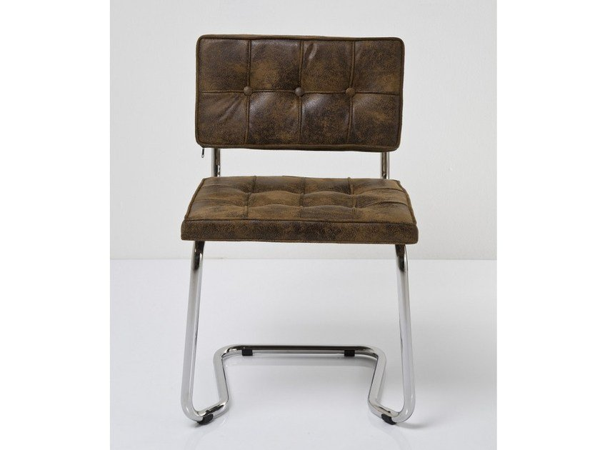 Cantilever tufted chair EXPO VINTAGE ECO by KARE-DESIGN