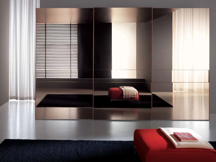 Mirrored glass wardrobe with sliding doors EXTRA | Mirrored glass wardrobe by Composit