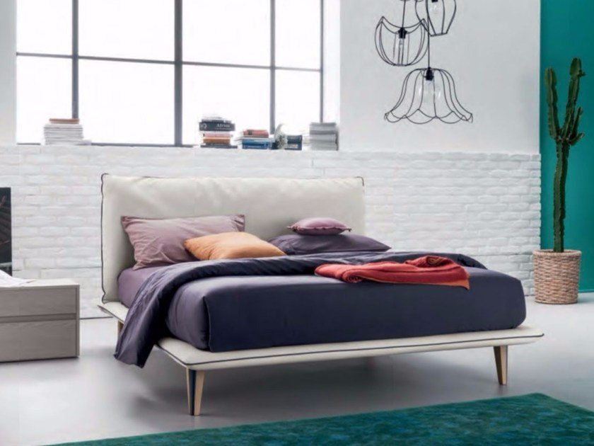 Letto imbottito matrimoniale in tessuto EXTRA BED By Dall\'Agnese ...