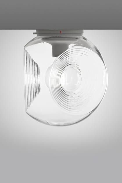 Soffitto Soffiato Da In EyesLampada Fabbian Fluorescente Vetro A534RjL