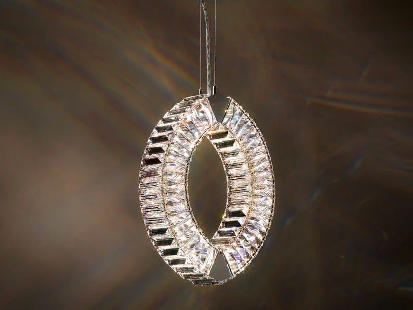 Halogen crystal pendant lamp EYRIS MONO by Swarovski