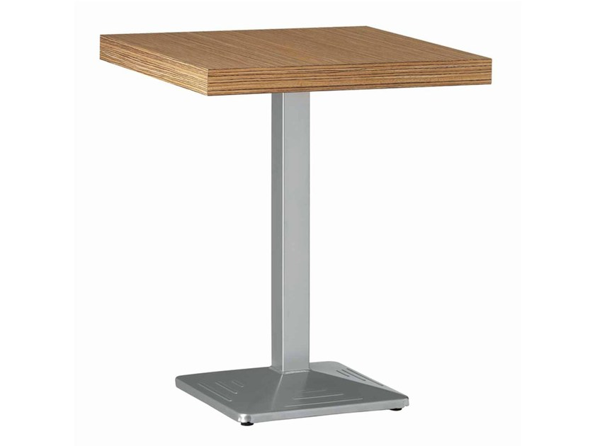 Square steel table Easy 445 by Metalmobil