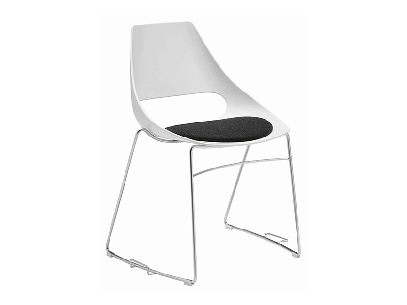 Stackable technopolymer chair Echo 152-G by Metalmobil
