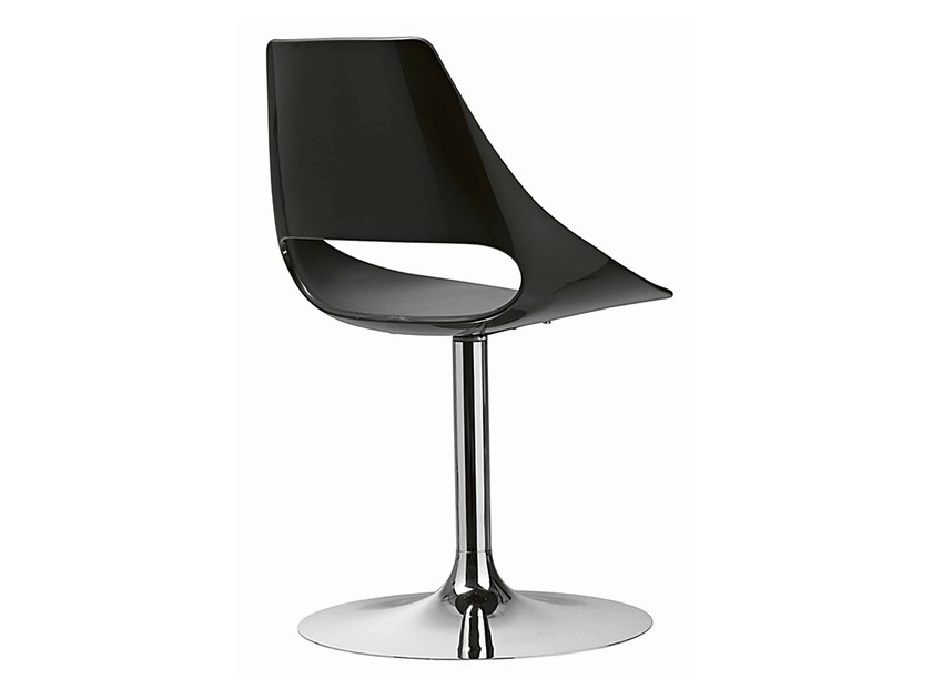 Swivel technopolymer chair Echo 153 by Metalmobil