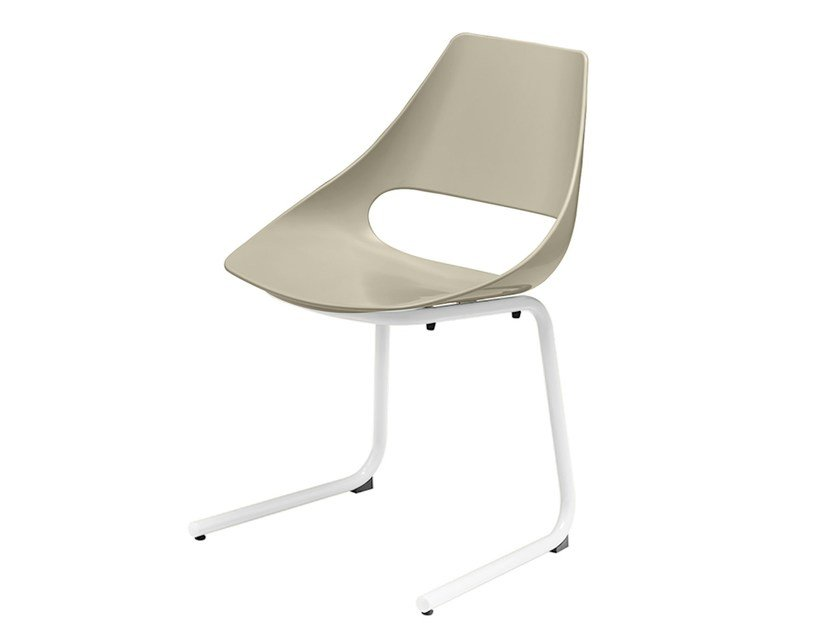 Cantilever technopolymer chair Echo 156 by Metalmobil