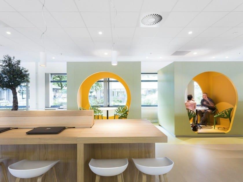 Acoustic glass wool ceiling tiles Ecophon FOCUS™ by Saint-Gobain ECOPHON