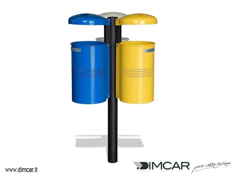 Portarifiuti in metallo per raccolta differenziata Cestino Ekos by DIMCAR
