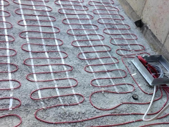 Radiating cable and mat Electric heating - Outdoor by Thermoeasy