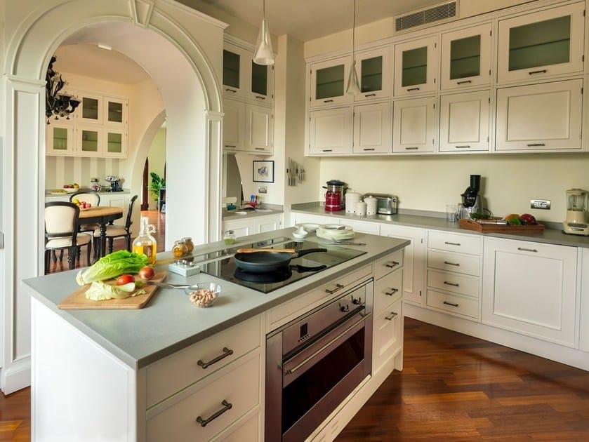 Cucina componibile con isola ELEGANZA MILANESE by Marchi Cucine
