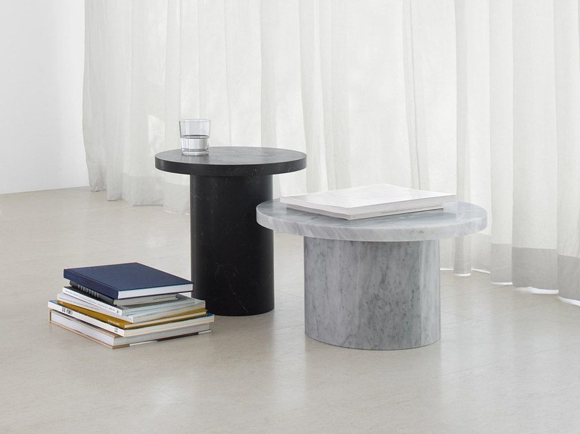 Contemporary style round marble coffee table for living room ENOKI MIGOTO by e15