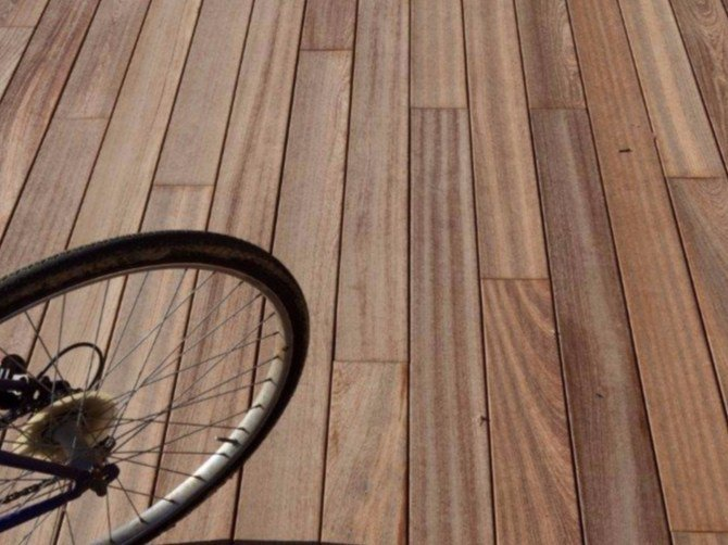 Solid wood outdoor parquet External Wooden Floors by Bruno Parquet