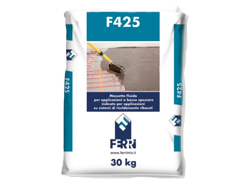 Screed and base layer for flooring F425 by Ferrimix