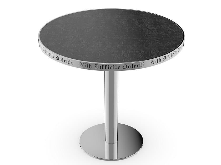 Tavolo rotondo in metallo F58 by Sicis